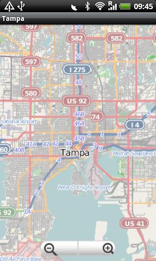 Tampa Street Map