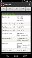 Screenshot of FillUp - Gas Mileage Log