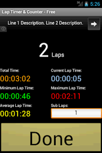 Lap Timer & Counter - Free - screenshot