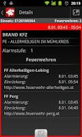 Screenshot of Feuerwehreinsätze LFK OÖ