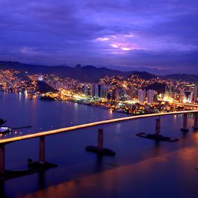 Entardecer na Terceira ponte by Francisco Andrade - City,  Street & Park  Street Scenes ( ponte, por, longa exposição, do sol )
