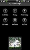 Screenshot of My Heritage