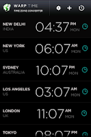 Screenshot of Warp - Time Zone Converter