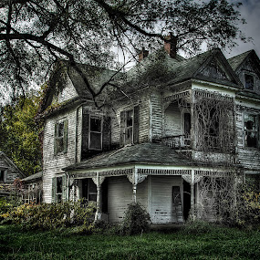 Grand Abandonment by Jon Dickson - Buildings & Architecture Decaying & Abandoned ( victorian house, farm house, sad, missouri home, dramatic, old farm house, decrepit, abandoned )
