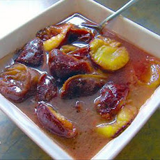 Vanilla Poached Plums