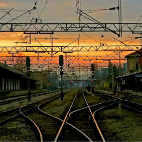 railroad by Zeljko Kustec - Transportation Railway Tracks ( railroad )