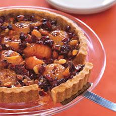 Honey-Caramel Tart with Apricots and Almonds