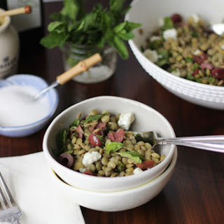Lentil Salad with Olives, Mint, and Feta