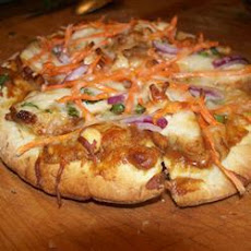 Cheats Chicken Satay Pizza