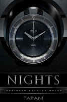 Screenshot of NIGHTS Designer Clock Widget