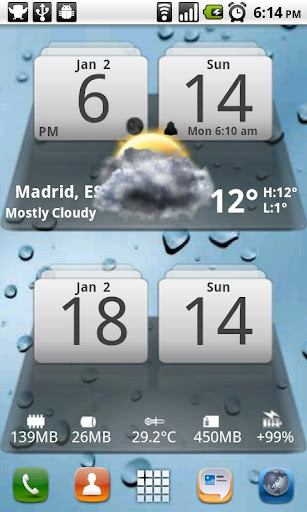 Android Weather & Clock Widget for Android