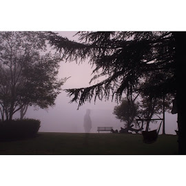 Ghost walker by Michael Leitao - Novices Only Portraits & People ( weather, people, misty morning, mist )