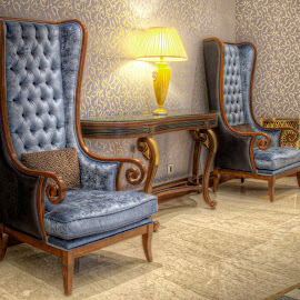Beside You by Mohamed Essam - Artistic Objects Furniture ( chair, home, hdr, blue, hotel, furniture, antique, romance )