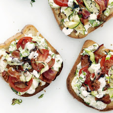 Bacon-Tomato Cheese Toasts