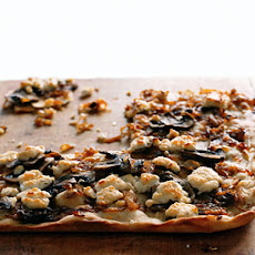 Caramelized-Onion Pizza with Mushrooms