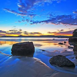 Umina Beach sunrise by Jose Rojas - Landscapes Sunsets & Sunrises ( water reflections, umina beach, waterscape, sunris, beach, coastalscape )
