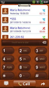 GOContacts theme Leather - screenshot