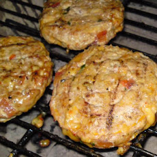 Cheesy Mexican Turkey Burgers