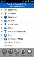 Screenshot of Sardinia - FREE Travel Guide