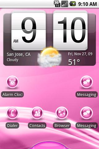 aHome Theme: Flow Pink