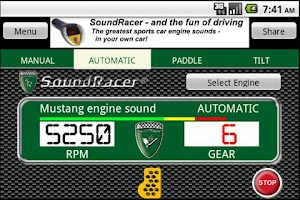 Screenshot of SoundRacer FREE Car Sounds