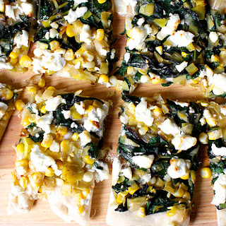 Leek, Chard And Corn Flatbread