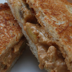 Peanut Butter and Banana Bread Finger Sandwiches