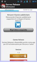 Screenshot of Games Release