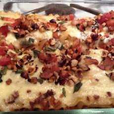 Squash Stuffed Cannelloni With Roasted Shallot Sauce