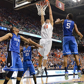 Slam Dunk by Tyrell Heaton - Sports & Fitness Basketball ( basketball, ncaa, slam dunk, duke, virginia, acc,  )