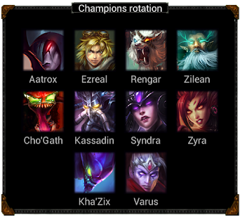 Rotation for League of Legends - screenshot