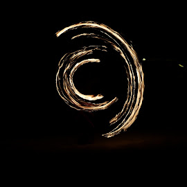 Copyright, The Beach by Nancy Young - Abstract Light Painting ( abstract, mexico, cozumel, night, beach, dance, light, fire )