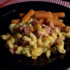 Ham and Peas Mac and Cheese