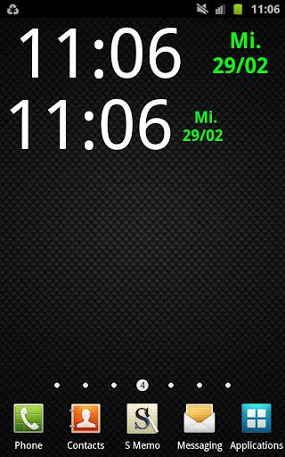 ClockWidget 4x1 5x1