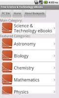 Screenshot of Science eBooks
