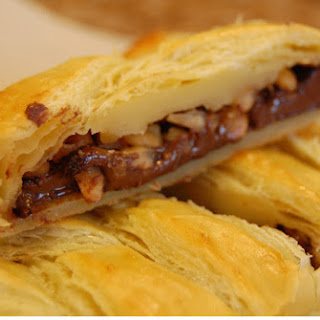 Nutella and Macadamia Nut Braided Strudel