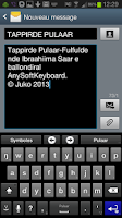Screenshot of Fulah Language Pack