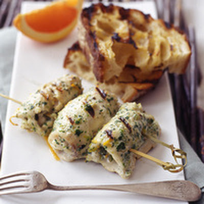Skewered Swordfish Rolls