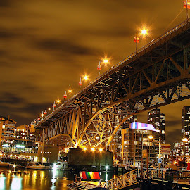 by Ryan Chornick - Buildings & Architecture Bridges & Suspended Structures ( city scape, night exposure, skyline, long exposure, bridges )