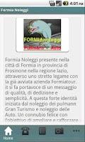 Screenshot of Formia Noleggi