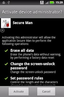 Secure Man - screenshot