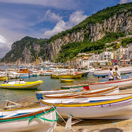Capri waterfront by Wendy Oster - Novices Only Landscapes ( boats, capri, italy )
