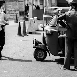 Exhausting Routine by Valery Sugi - City,  Street & Park  Street Scenes ( street life, still life, new delhi, tuctuc, india, people, Urban, City, Lifestyle )