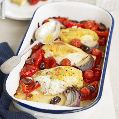 Mediterranean Chicken Tray Bake