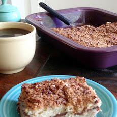 Strawberry Rhubarb Coffee Cake