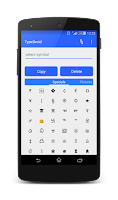 Screenshot of Type Droid (1000+ symbols)