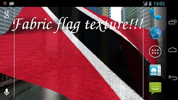 Screenshot of 3D Trinidad & Tobago Flag LWP