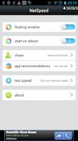 Screenshot of NetSpeed