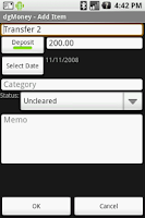 Screenshot of dgMoney