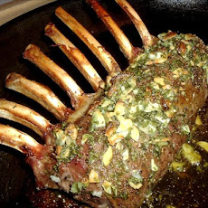 Mint Glazed Rack of Lamb for One